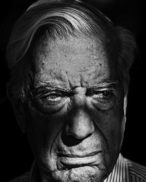 SPAIN. Madrid. 2017. Writer Mario Vargas Llosa at home.