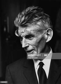 irish-playwright-and-author-samuel-beckett-at-a-first-night-25th-picture-id3325657